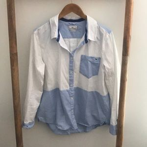 Vineyard vines color block button down shirt